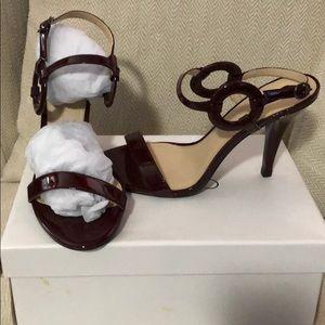 Deep wine heeled sandals